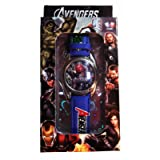 Marvel Comics Avengers Featuring Thor Blue Leather Strap BOXED WRIST WATCH (Color: blue, Tamaño: adjustable)