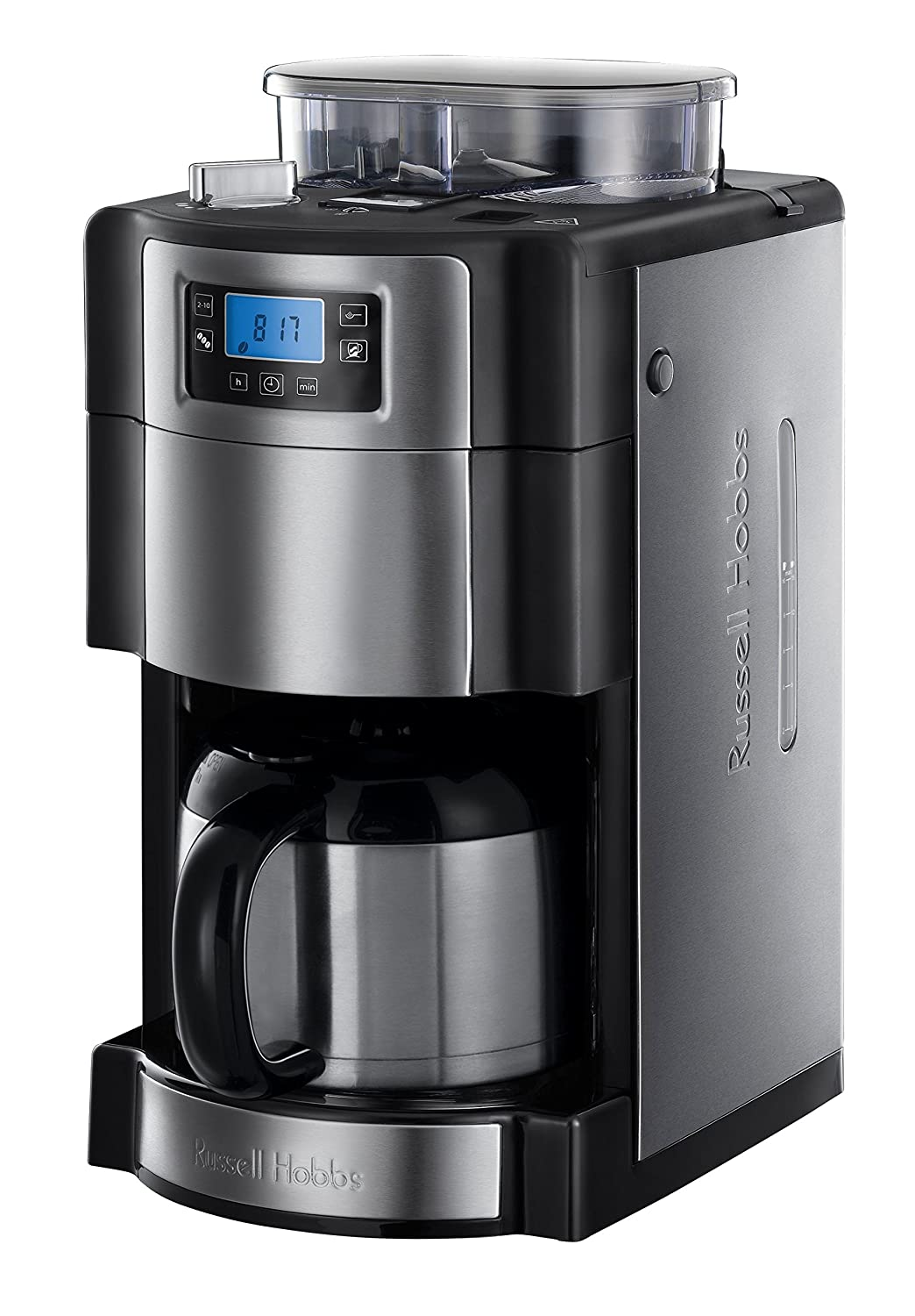 russell hobbs 21430 56 cafeti re filtre semi automatique avec moulin caf ebay. Black Bedroom Furniture Sets. Home Design Ideas
