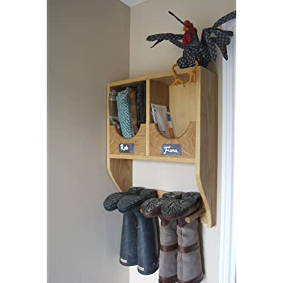 Solid Oak Wellington Boot Rack (6 Pairs of Boots)