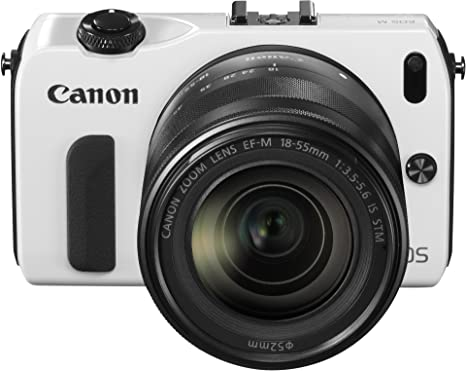 Canon EOS M Kit Compact hybride Blanc + Objectif EF-M 18-55 mm f/3.5-5.6 IS STM + Speedlite 90EX