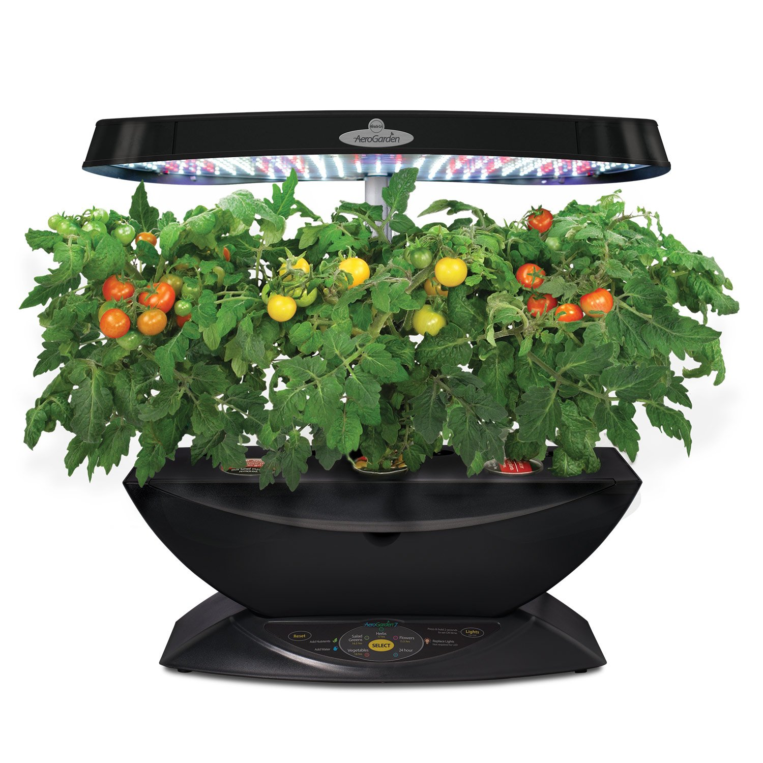 miracle gro aerogarden 7 pod led indoor garden with gourmet herb seed kit new ebay. Black Bedroom Furniture Sets. Home Design Ideas