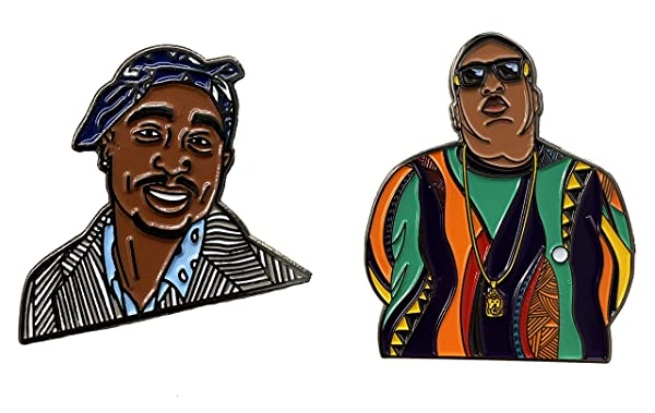 Hats and Jackets Est Mundun Rapper Inspired Famous Pin Enamel Pin Pin Set for Jackets Backpacks