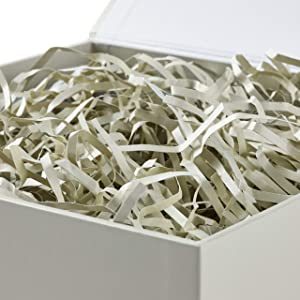 Hallmark Large White Gift Box with Lid and Shredded Paper Fill for Weddings, Birthdays and More (Color: White, Tamaño: Large)