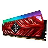 XPG Spectrix D41 RGB 3200MHz 16GB (2x8GB) 228-Pin PC4-25600 Desktop U-DIMM Memory Retail Kit Red (AX4U320038G16-DR41) (Color: RGB Red, Tamaño: 2x8GB)