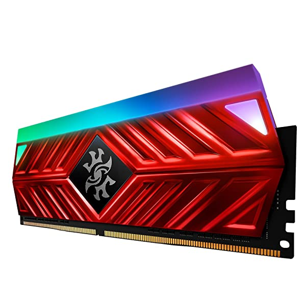 XPG Spectrix D41 RGB DDR4 3200MHz 16GB (2x8GB) 288-Pin PC4-25600 Desktop U-DIMM Memory Retail Kit Red (AX4U320038G16-DR41) (Color: RGB Red, Tamaño: 2x8GB)