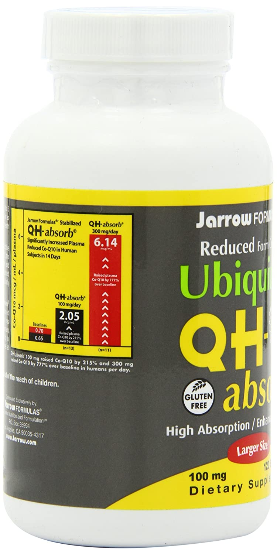 Jarrow Formulas Ubiquinol  QH-Absorb, 100 mg, 120 Count