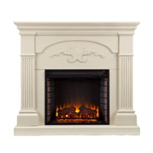 <strong>Southern Enterprises Sicilian Harvest Ivory Electric Fireplace</strong> width=