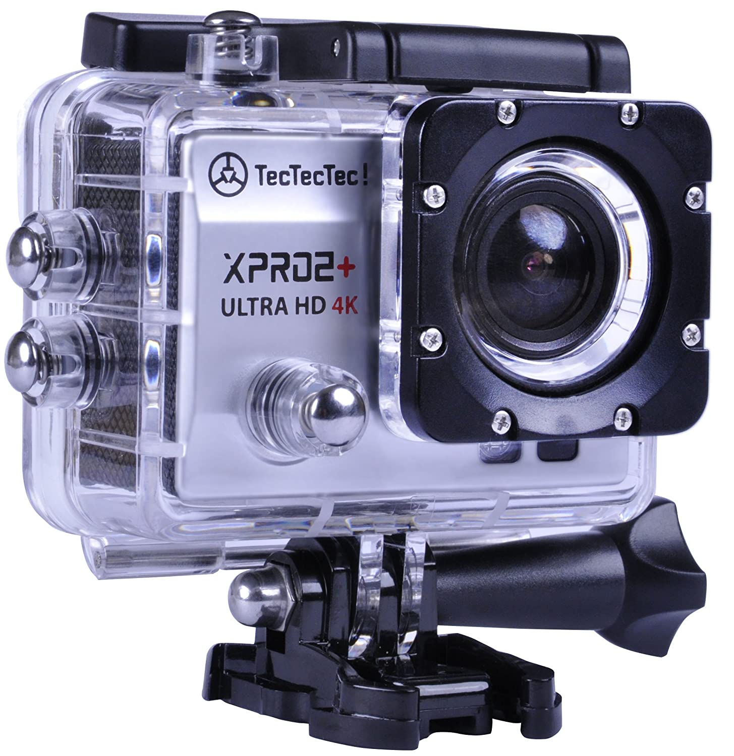 TecTecTec Action Camera 4K XPRO2+ WiFi Waterproof Sport Cam - Silver