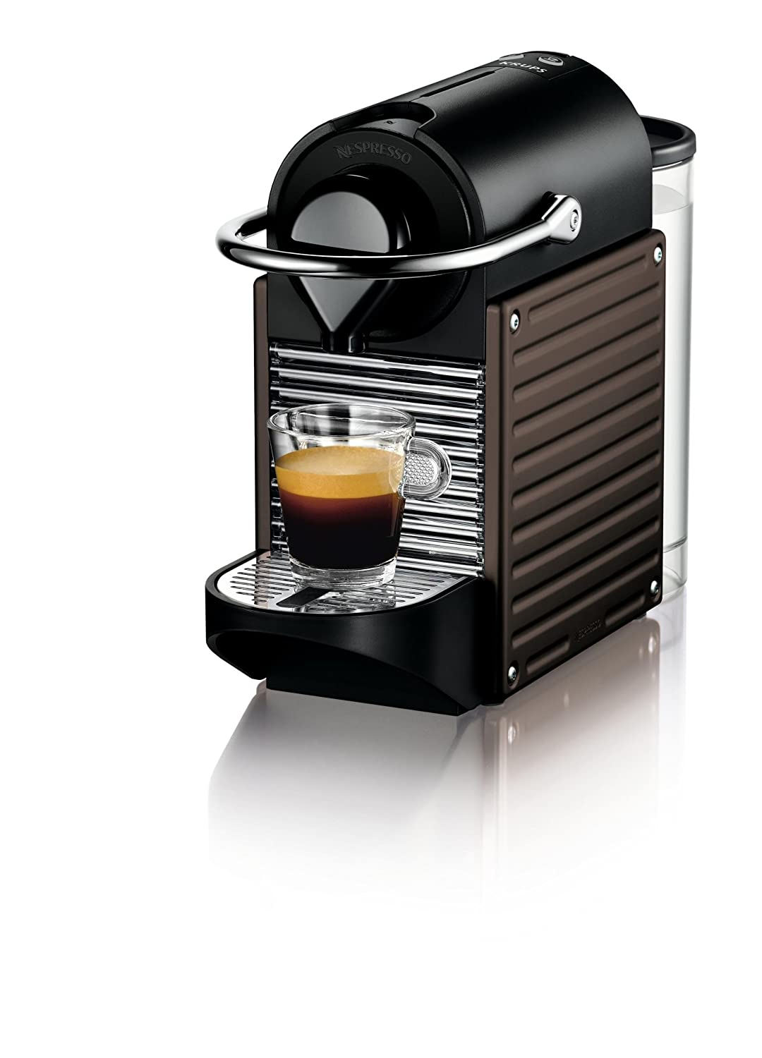 KRUPS NESPRESSO PIXIE XN3008 XN300840 COFFEE MACHINE, DARK BROWN 19 BAR eBay
