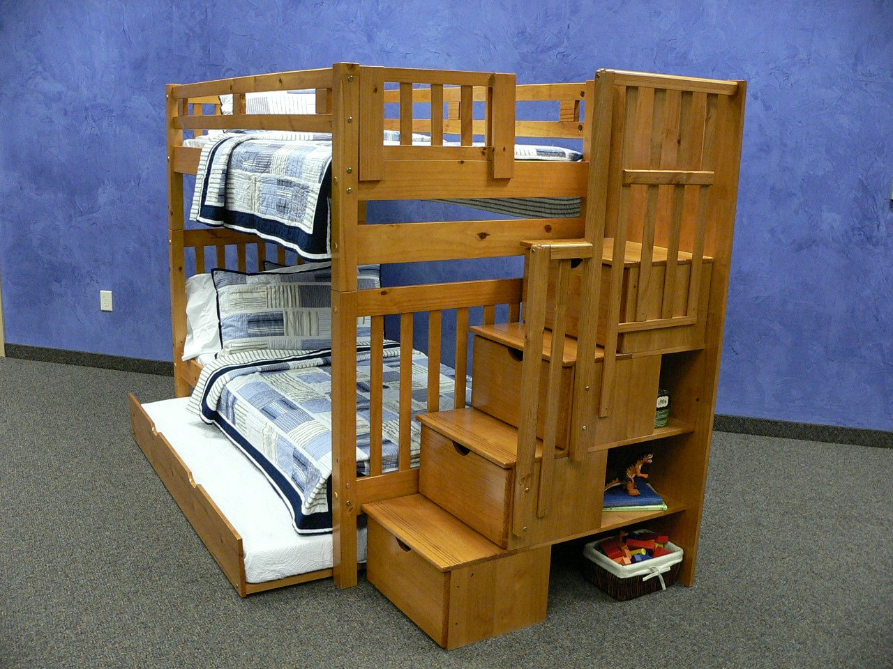 futon bunk beds twin over futon stairway bunk bed honey
