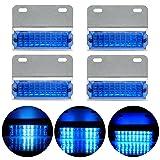CCIYU 4 Pack 12v Blue Pickup Truck Trailer 18-LED Side Marker Lights