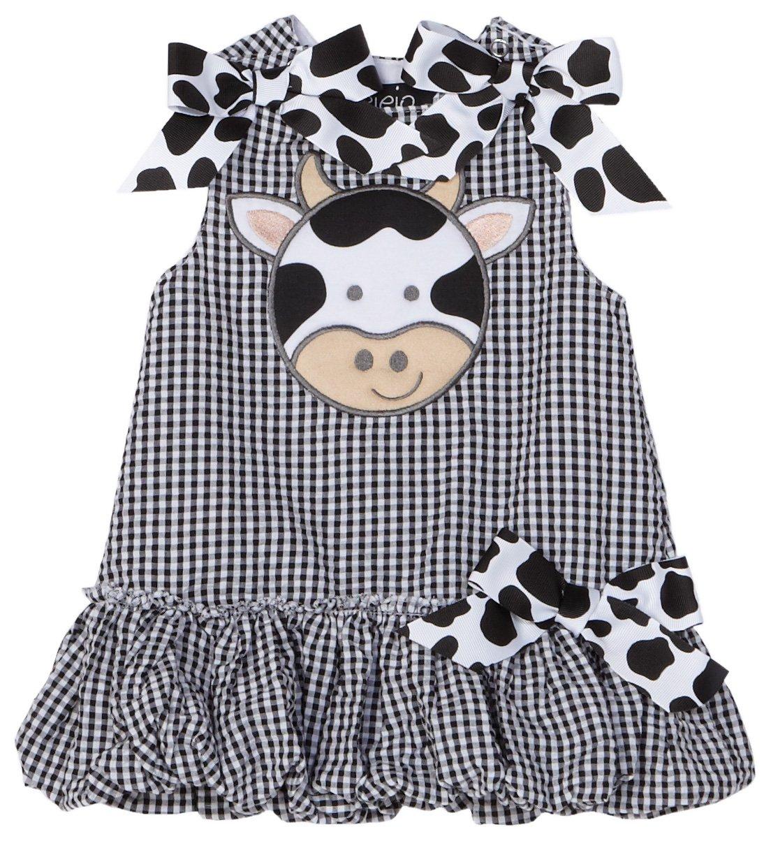Clothing Shop Mud Pie Baby Eieio Black and White Gingham