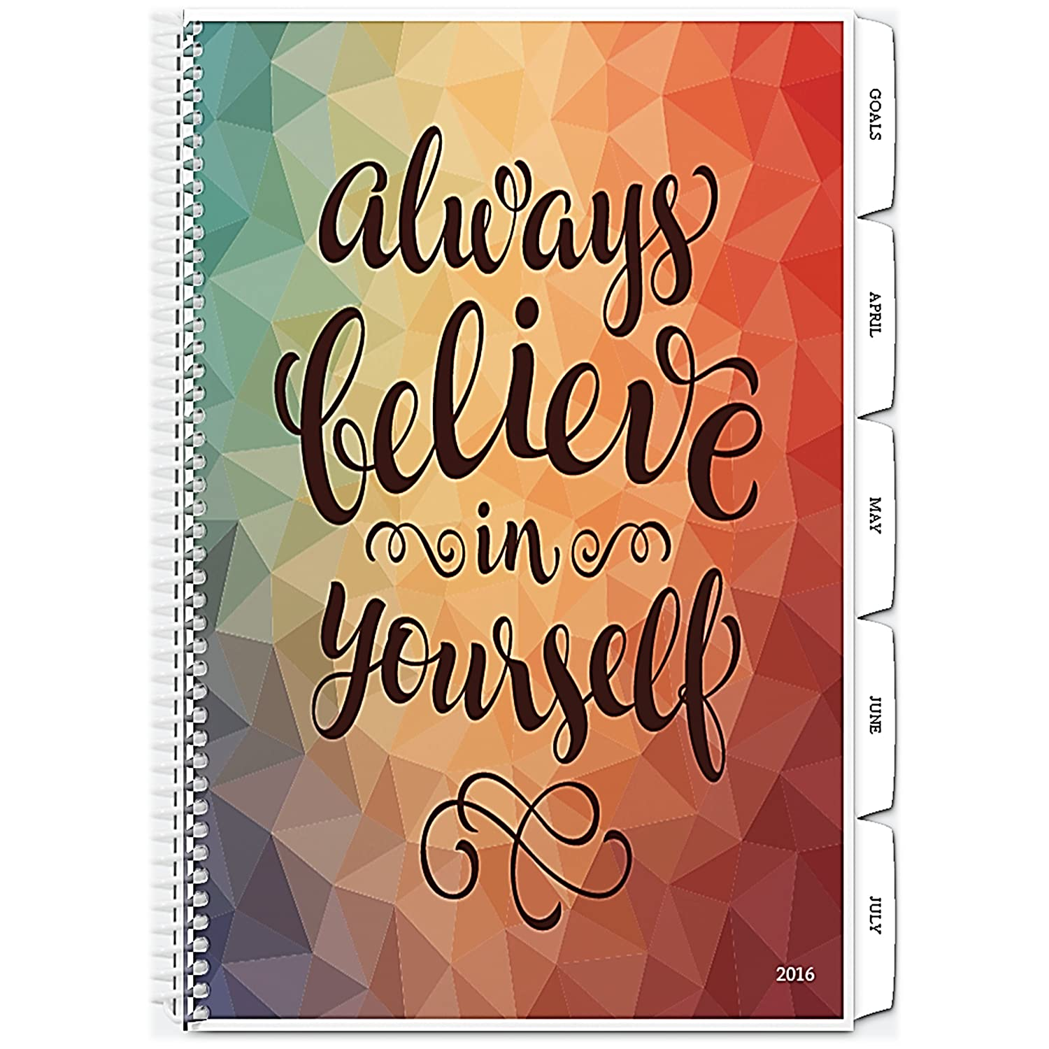 Tools4Wisdom Planner 2016 - 2017 Calendar 4-in-1: Daily Weekly Monthly Yearly Organizer - Purpose Driven Goals Planning Book - Personal Life Progress Journal Notebook (8.5 x 11 / 200 Pages / Spiral)