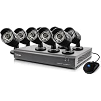 Swann 16 Channel 720P HD DVR Home Security System with 8 Bullet Cameras & 1TB HDD