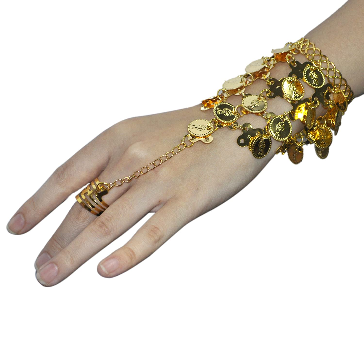 Belly Dance Gold Triangle Bracelet
