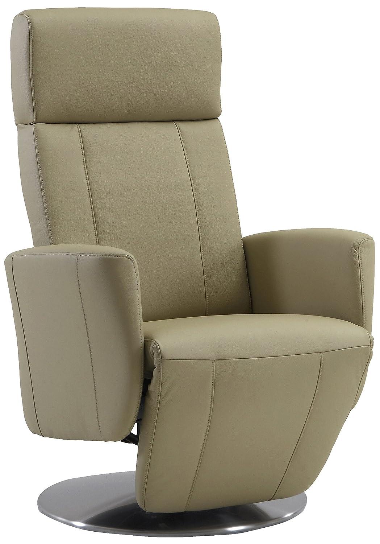 Sino-Living SE-815 Relax- und Ruhesessel in Dickleder, beige mit motorischer Verstellung