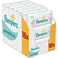 18-Pack Pampers Sensitive Baby Wipes