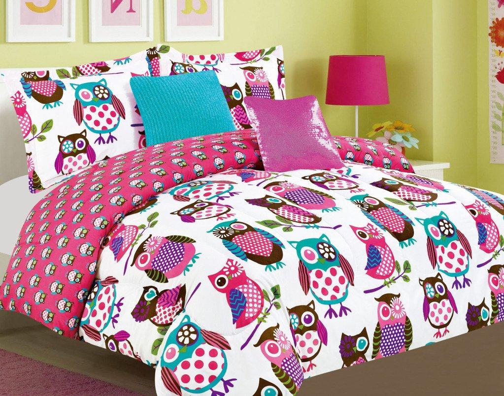 CheerFul Night Owls Microfiber 5-piece Comforter Set