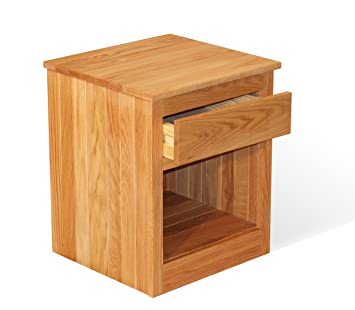 OAK - 1 Drawer Nightstand - Ships Fully Assembled - Super Strong - Chemical Free - Solid Wood - finished with a Hand Rubbed Linseed Oil