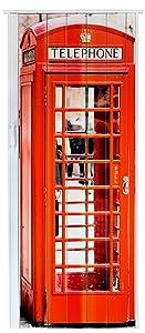 Falttür Schiebetür Tür mit Motiv Telefonzelle bunt farben H. 202 cm B. 86 cm Doppelwandprofil Neu  BaumarktÜberprüfung und weitere Informationen