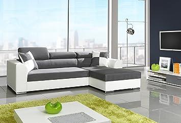 Sofa Couchgarnitur Couch Sofagarnitur MIRAMBA mit Schlaffunktion Polstergarnitur Polsterecke Wohnlandschaft