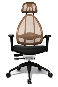 Topstar OPA0TBG40E Open Art 2010 Office Swivel Chair   Black/ Light Brown       Office Productsreview and more description