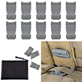BOOSTEADY Multipurpose MOLLE Clip Tactical Strap Management Tool Web Dominator Buckle for Tactical Bag, Backpack (Color: Grey)
