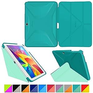 rooCASE Samsung Galaxy Tab 4 10.1 10,1 caso carcasas cubierta funda folio  Electrónica más información y comentarios