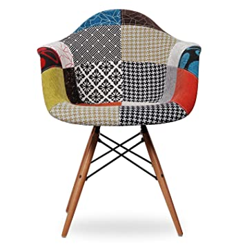 Poltrona poltroncina holliwood in patchwork