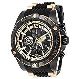 Invicta Men's 26791 Marvel Quartz Multifunction Rose Gold, Black Dial Watch (Color: Black/Rose Gold)