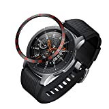 BaiHui Compatible Galaxy Watch Bezel Ring 46mm / Galaxy Gear S3 Frontier & Classic Bezel Ring,Stainless Steel Bezel Ring Protection Cover for Galaxy Watch Accessory (04-Black) (Color: 04-Black)