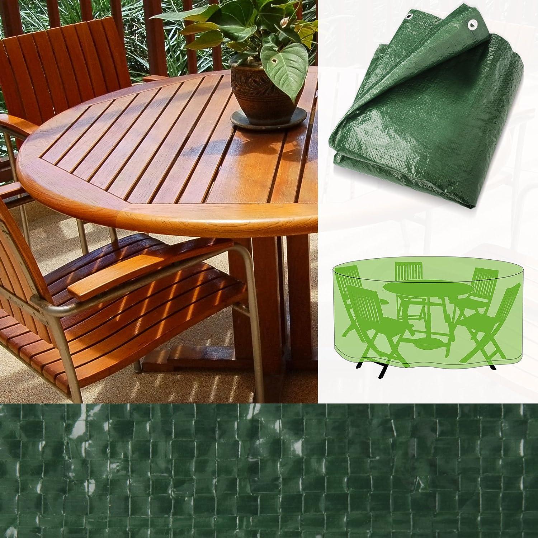 schutzh lle f r sitzgruppe rund wasserdicht schnelltrocknend zwei gr en 200x90cm. Black Bedroom Furniture Sets. Home Design Ideas