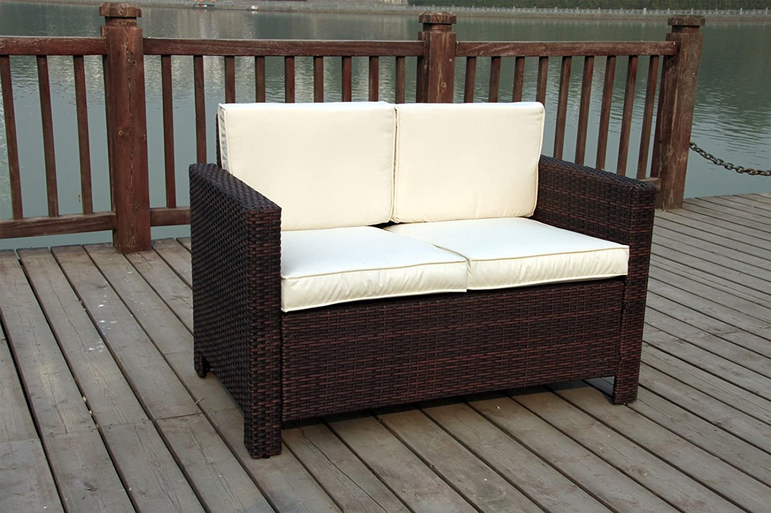 Neue Twin Rattan Geflecht Wintergarten im Garten Möbel Set Dark mixed brown online bestellen