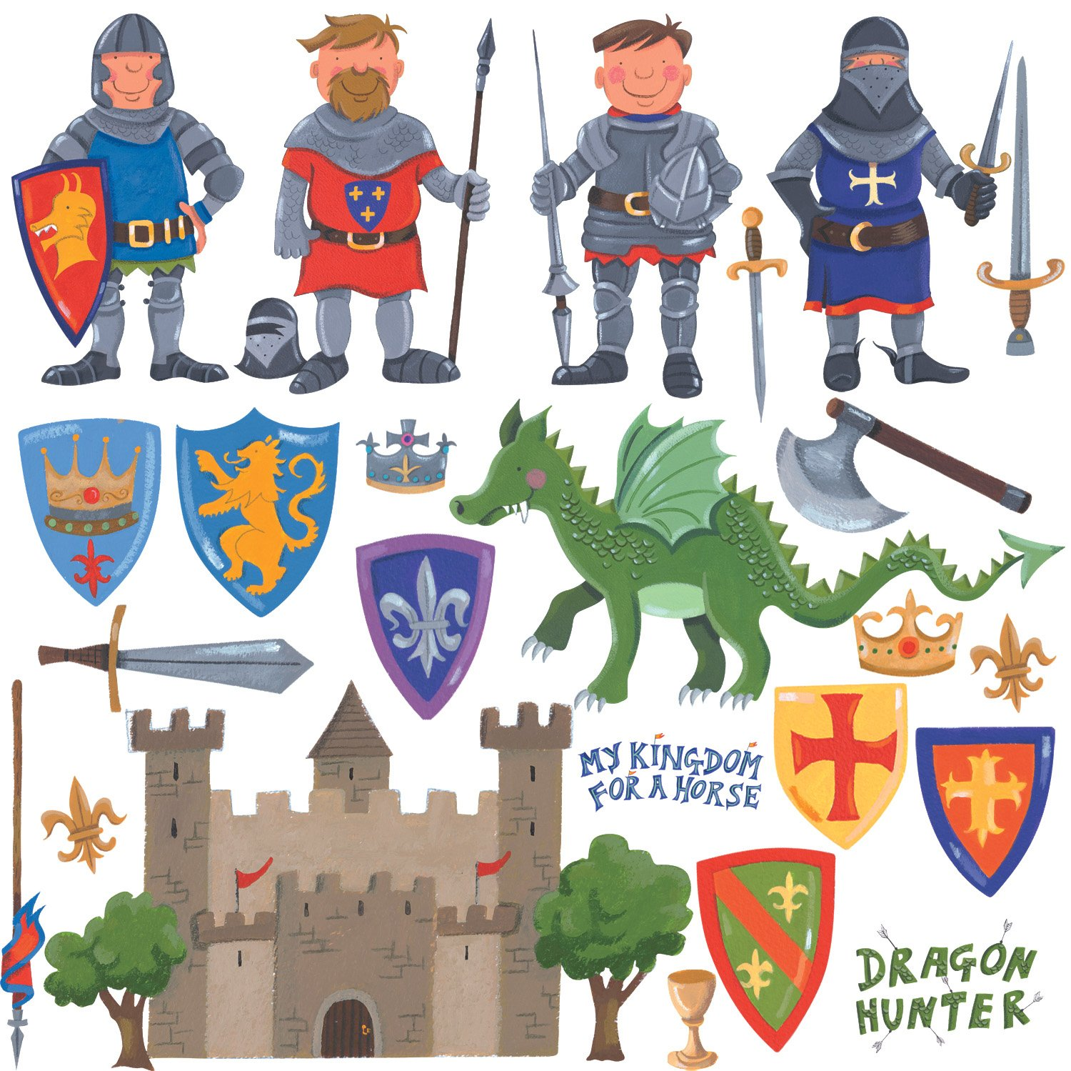 RoomMates - Wandsticker Mini-Ritter 24
