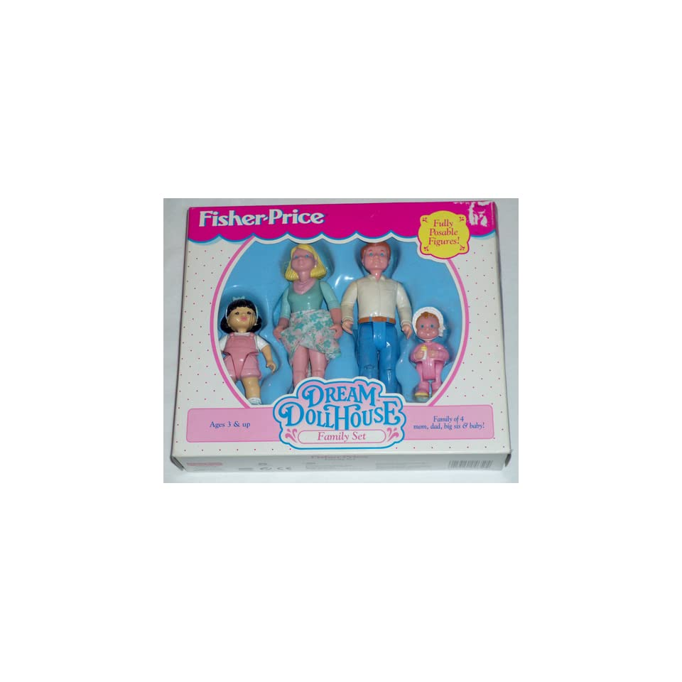 Fisher Price Dream Doll House Family Set Mom Dad Big Sis Baby