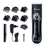 SURKER Professional Men's Hair Trimmer Electric Men Hair Clipper Beard Trimmer with LED Display Rechargeable Cordless Hair clipper