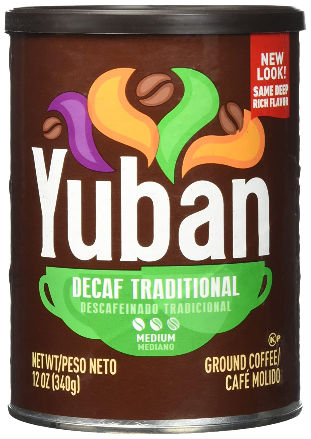Yuban Traditional Decaf Ground Coffee, Medium Roast