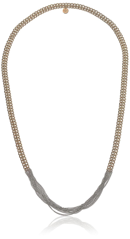 Dyrberg/Kern Damen-Kette ohne Anhänger 15/02 Perri Rg Silver teilvergoldet 90 cm – 338126 schenken