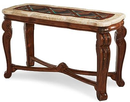 Tuscano Marble Top Sofa Table by Michael Amini