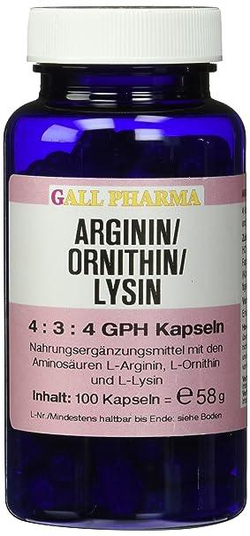 Gall Pharma Arginin/Ornithin/Lysin 4:3:4 GPH Kapseln 100 Stuck
