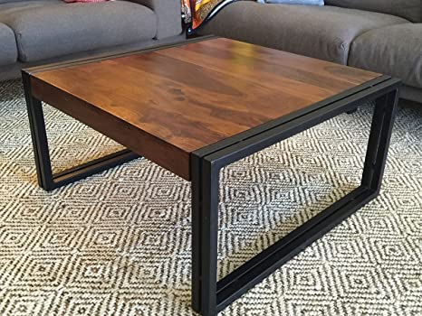 Timbergirl Medium Hand-Crafted Sheesham Wood Coffee Table, 35 by 35-Inch