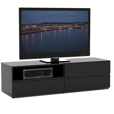 Nexera 223106 Avenue TV Stand, 60-Inch, Black