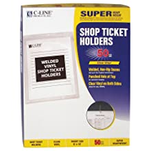 "C-Line CLI80912 Vinyl Seal Shop Ticket Holder, 9"" x 12"", 50 Per Box"