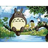 DIY Oil Painting, Paint by Number kit- My Neighbor Totoro 1620 inch. (Tamaño: Frameless)
