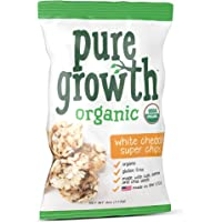 6-Pack Pure Growth Organic White Cheddar Super Chips, 3.5 Ounce