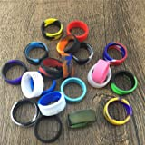 Tank Bands 21mm Silicone Tank Band Ring Bumper 21 COLORS AVAILABLE (25-PACK (Message Colors))