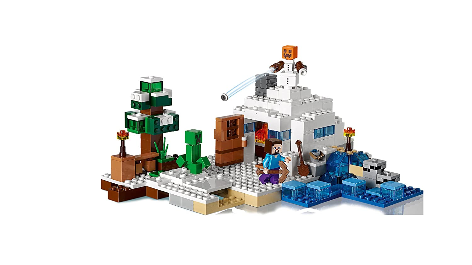 Lego Like Toys : Minecraft lego toys kids the snow hideout and similar items