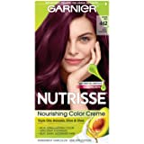 Garnier Nutrisse Nourishing Hair Color Creme, 462 Dark Berry Burgundy (Packaging May Vary) (Color: 462 Dark Berry Burgundy, Tamaño: 1 Count)