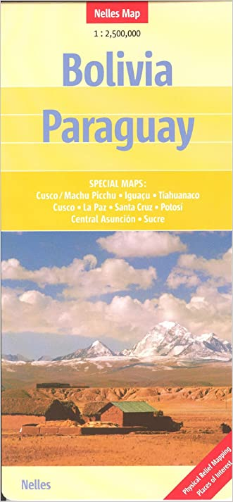 Bolivia & Paraguay 1:2,500,000 with La Paz Travel Map, 2012 edition