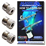 Master Airbrush Brand Airbrush Fitting Conversion Adapters for Paasche, Badger & Aztec Airbrushes; Converts Threads Size to 1/8